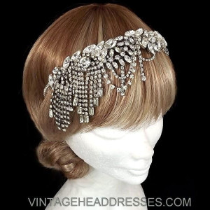Art Deco Chain Drape Headpiece
