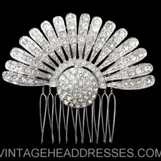 Art Deco Fan Comb