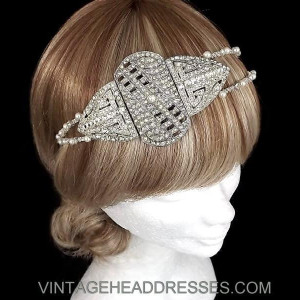 Art Deco Double Headband