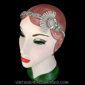Vintage Art Deco Fan Headpiece