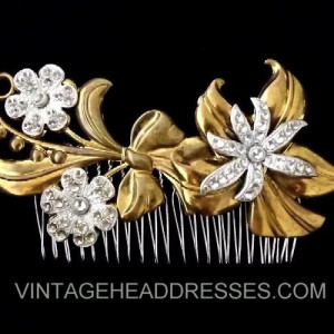 Silver & Gold Vintage Hair Comb