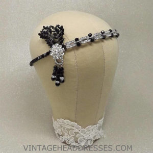 Black Great Gatsby Headpiece