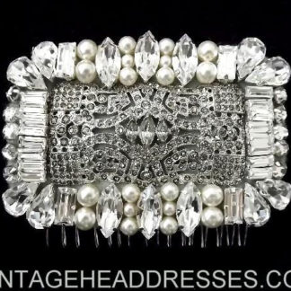 Diamante & Pearl Hair Comb
