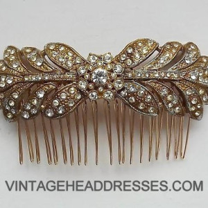 Gold Vintage Hair Comb