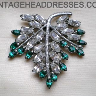 Green Leaf Art Deco Dress Clip
