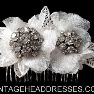 Lace Tulle Hair Comb