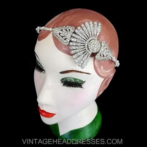 Art Deco Fan Headpiece