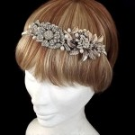 Vintage Rose Gold and Silver Floral Headband