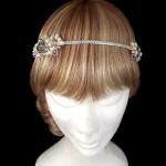 Rose Gold Double Cluster Headpiece