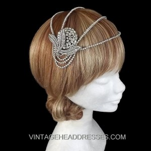 Art Deco Cap Headpiece