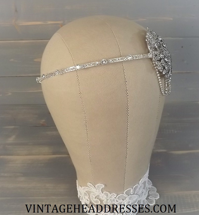 art deco bridal headpiece by vintage headdresses. Black Bedroom Furniture Sets. Home Design Ideas