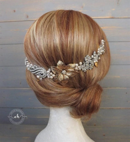 Gold & Silver Bridal Hair Vine